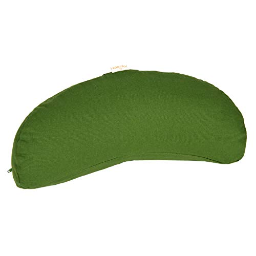Yogakissen Halbmond Basic, Olive