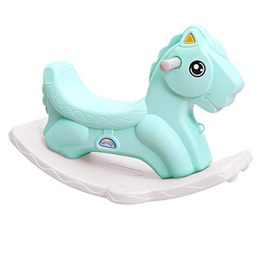 Cheval de Troie pour Enfants Jouet bébé en Plastique à Double Usage 1-6 Ans Épaississement et élargissement du Chariot Cadeau (Couleur : Vert)