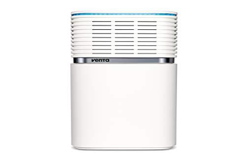 Venta Luftwäscher AeroStyle LW73, Luftbefeuchtung und Luftreinigung (bis 10 µm Partikel) für Räume bis 70 qm, Signalweiß