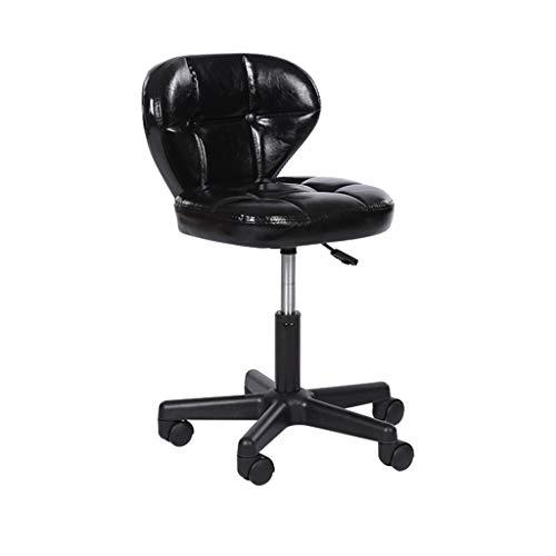Fauteuil, in hoogte verstelbaar met rugleuning barkruk Office Book leeszaal bureaustoel met wielen Barkruk (Color : A, Size : 34 * 40 * 52-62CM)
