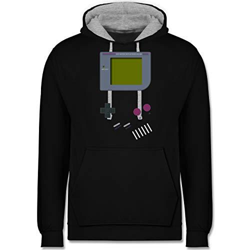 Shirtracer Nerds & Geeks - Gameboy - 4XL - Schwarz/Grau meliert - JH003_Hoodie_Unisex - JH003 - Hoodie zweifarbig und Kapuzenpullover für Herren und Damen