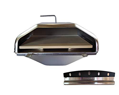 Pellethead Green Mountain Grill Pizza Oven Attachment & Pizza Cutter Combo