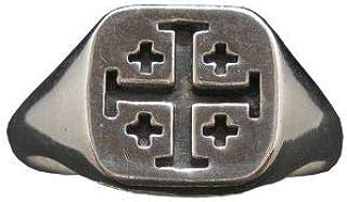 Anello in Argento Solido Timbrato 925 Croce di Gerusalemme R002081 Empressjewellery