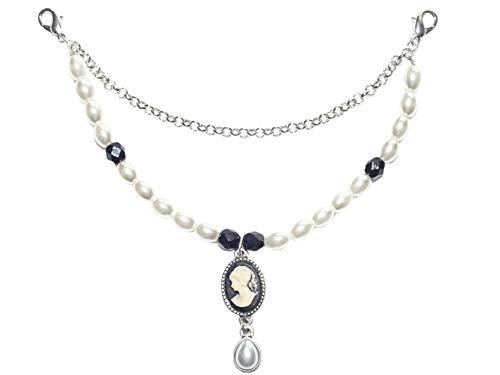 Charivari Barock | schönes Dirndl-Charivari | mit Perlen und Anhänger im Barock-Stil | Dirndlschmuck Trachten