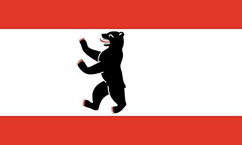 MM Berlin Flagge/Fahne, 150 x 90 cm, wetterfest, mehrfarbig, 16189