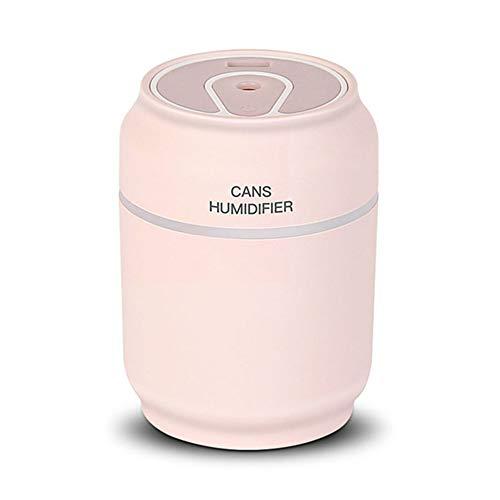 3 in 1 Aromatherapie Diffuser Ultrasoon Kan Luchtbevochtiger Luchtreiniger LED-nachtlampje USB-ventilator Kantoorluchtverfrisser,Pink