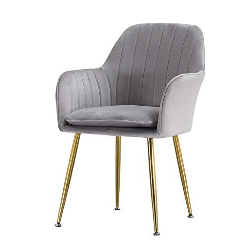 TXXM Silla de comedor, silla de escritorio simple, respaldo creativo, silla de ocio, silla de comedor para adultos (color: gris claro)