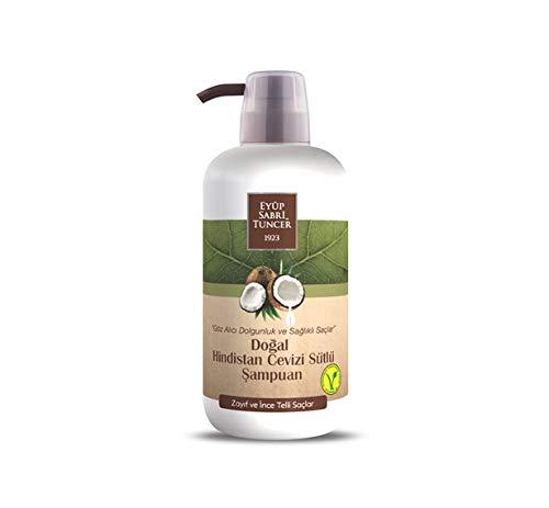 EYÜP SABRİ TUNCER 1923 Natural Coconut Milk Vegan Champú 600 ml (para cabello seco y fino) - Botella para mascotas
