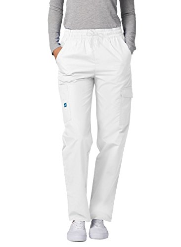 Adar Universal Scrubs For Women - Tapered Cargo Scrub Trousers - 506 - White - S