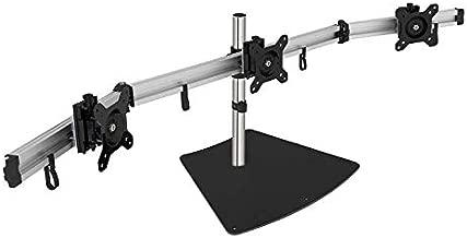 SIIG Premium Aluminum Triple Monitor Stand - Adjustable Height 3 Monitors 13