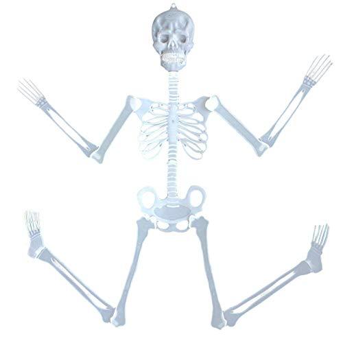 YueLove 32 cm Halloween beleuchtet Totenkopf Skelett Körper Spielzeug Gruseliges Haus Geisterhaus Zubehör für Halloween Dekoration