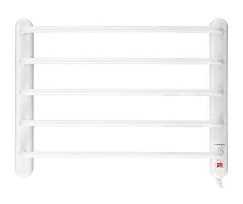 Orbegozo TH 8002 - Toallero eléctrico, fácil instalación, seca y calienta toallas, indicador luminoso, 90 W, color blanco