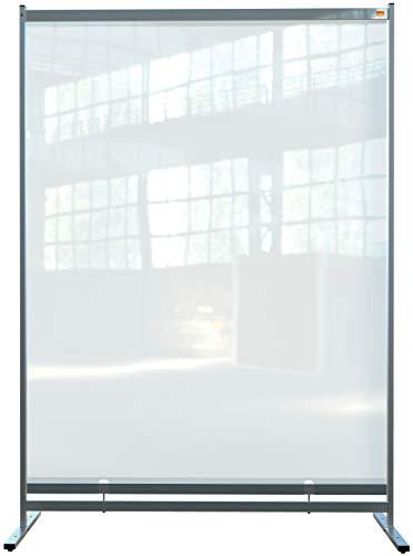 Nobo Stellwand, 2 m hoher, durchsichtiger Raumteiler aus PVC-Folie, Hygieneschutz, Premium Plus, 1480x2060mm, 1915553