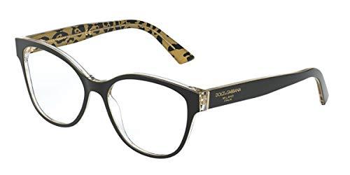 Dolce & Gabbana Occhiali da Vista PRINTED DG 3322 BLACK LEO GLITTER 54/16/145 donna