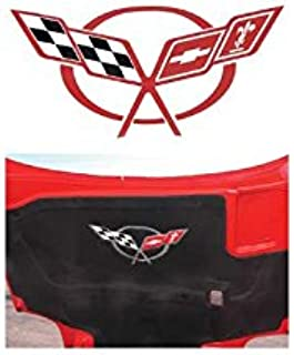 Eckler's Premier Quality Products 25-163556 - Corvette Hood Insulation Pad Decal Red