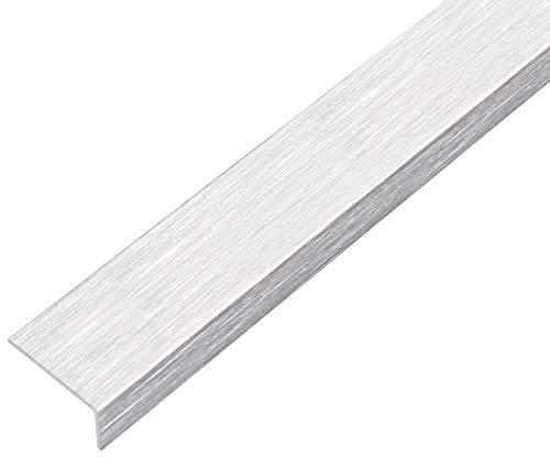 GAH-Alberts 489106 Winkelprofil | selbstklebend | Aluminium, edelstahldesign, hell | 1000 x 20 x 10 mm