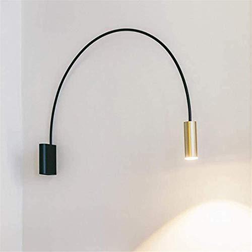 Lámpara industrial, Lámpara de pared moderna LED Luz blanca caliente Lámpara de pared de arco simple Diseño de arco creativo Lámpara interior Dormitorio Mesa de noche Luz de noche 36cmx30cm [una energ