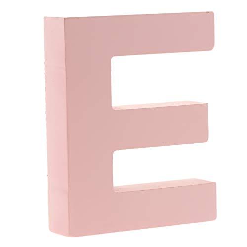 F Fityle Rosa DIY A-Z Buchstaben Alphabet Holzbuchstaben zum Aufstellen - E