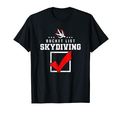 Bucket List Skydiving, Paracaidismo Camiseta 🔥