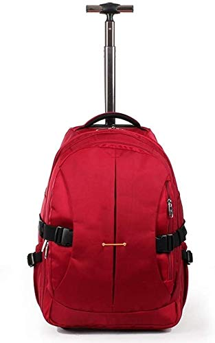 GQY Trolley - Trolley cloth suitcase - suitcase storage bag with thickening - two wheels and the telescoping handle luggage (Color : 628 Red, Size : Large)