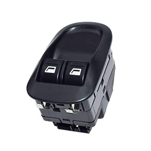 Interruptor de ventana eléctrica delantera del coche, control de botón maestro eléctrico para Peugeot 206 306 (color: negro)