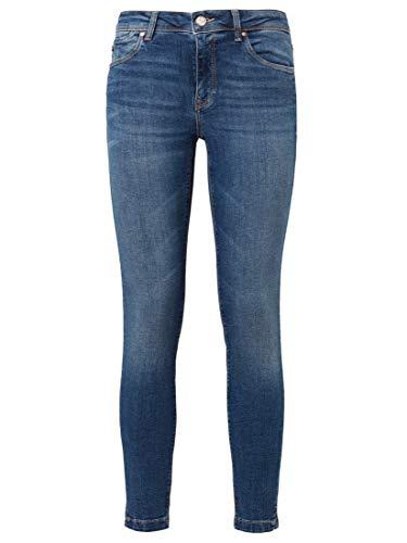 Mavi Damen Adriana Ankle Jeanshose, Blau (mid STR 22302), W28 (Herstellergröße: 28)