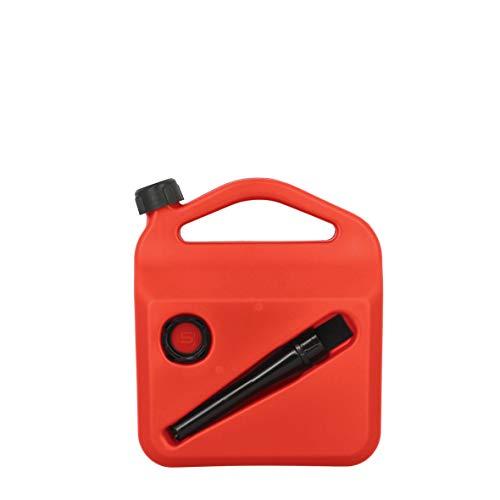 Sumex PETRO05 Bidon à Essence ou Combustible de 5 litres homologué avec Tube et visière de Niveau 5 l
