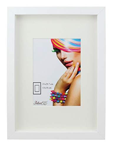 Ideal Trend 3D Objektrahmen Holz Bilderrahmen A4 23x23 30x40 40x50 50x70 Shirt Trikot Rahmen: Farbe: Weiß | Format: 23x23