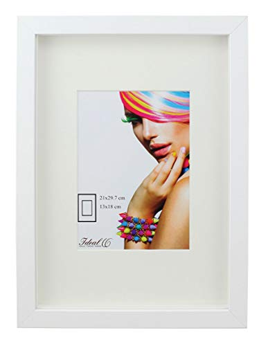 Ideal Trend 3D Objektrahmen Holz Bilderrahmen A4 23x23 30x40 40x50 50x70 Shirt Trikot Rahmen: Farbe: Weiß | Format: 40x50