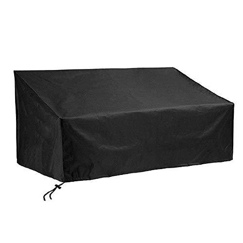 Chnrong Garden Bench Cover, Waterproof, Windproof, Anti-UV, Heavy Duty Rip Proof Oxford Fabric Outdoor Patio Bench Seat Cover 190x66x89/63 cm