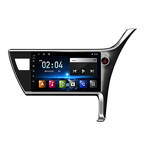 MGYQ Reproductor MP5 para Estéreo Coche, para Toyota Corolla 2017-2018 Radio del Coche con Pantalla Táctil HD Bluetooth USB Soporte FM Radio Control del Volante DSP 4G,Quad Core,4G WiFi 2+32