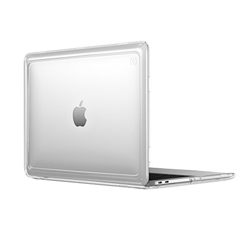 Speck 13' Macbook Pro w/without Touch Bar Presidio Clear Case, IMPACTIUM 4-Foot Drop Protected Macbook Case that Resists UV Yellowing with On-The-Go Protection, Clear