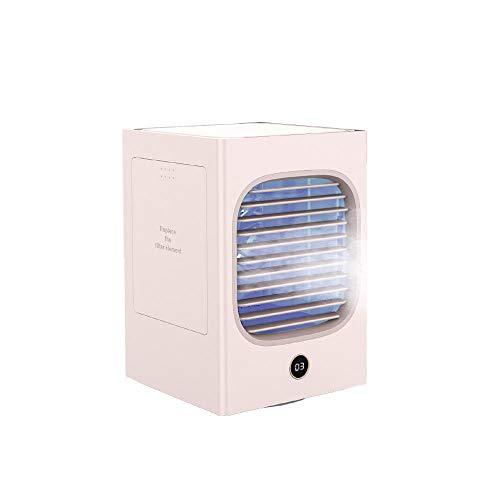 Mini refrigerador de aire Portátil Pequeño Ventilador Viento Grande Aire Ventilador Aire Acondicionador Aire Acondicionado-Rosa