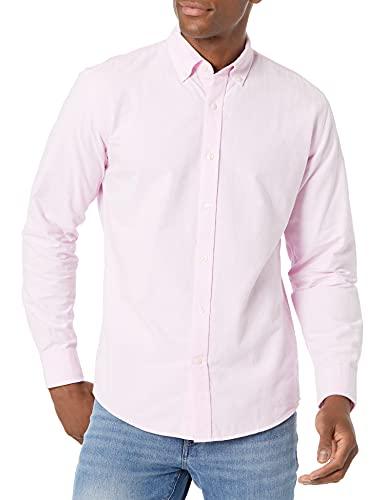 Amazon Essentials - Camisa de tela oxford, de manga larga, ajuste regular, para hombre, Azul Marino, XXL