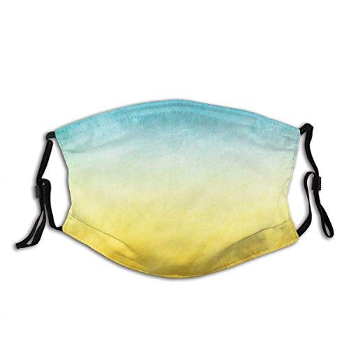 Gelbe und Blaue Brandungswellen Ocean Beach Exotic Dreamy Gradient Getönte verschwommene Landschaft Gesichtsdekorationen FA-Ce Co-Ver FA-Ce Mas-Ke Mit Filter