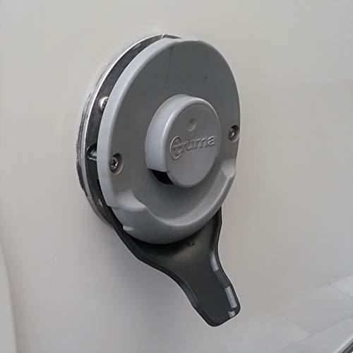 MaJoCompTec DRIPGUIDE Kondenswasserablauf | Kaminschild Ablauf für Kamindeckel Kaminabdeckung | Zubehör für Abgaskamin der Heizung an Wohnmobil Caravan (Schwarz, DRIPGUIDE Truma Standard)