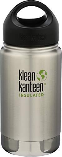 Klean Kanteen Kaffeetasse mit breiter Öffnung, Edelstahl, doppelwandig, vakuumisoliert, mit auslaufsicherem Verschlusskappe (New 2018), 12 oz