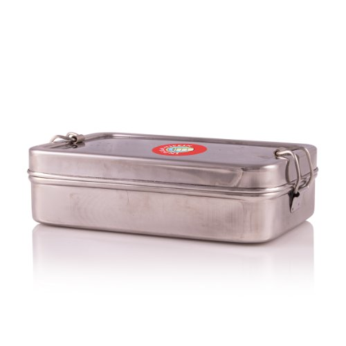 stylla Bote de Indian Tiffin Caja, acero inoxidable, con depósito adicional, rectangular