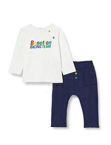 United Colors of Benetton 3ATNMM27F Pantaln, Azul 902, 68 cm para Bebés