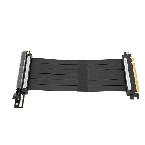 Cable PCI-E 16X, elevador PCI Express de 7,9 pulgadas Cable de extensión de tarjeta gráfica PIC-E 16x con PCI-E 3.0 x16 128Gbp/s, compatible con todas tarjetas gráficas producidas después de 2015