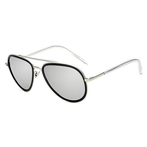 ZLININ Y-Longhair Gafas de Sol Hermosas de los Hombres Gafas de Sol de Moda de plástico Metalizado combina Perfectamente con Las Gafas de Sol polarizadas Gafas de Moda (Color: Azul E, Tamaño: Libre)
