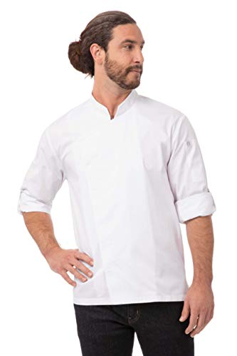 Chef Works Men's Lansing Chef Coat, White, Small