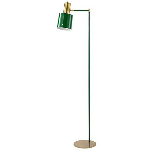 lampadaire Lampadaire, Lampadaire Vertical, Noir Vert, Salon Chambre Étude Chevet Chevet (Couleur : Green)