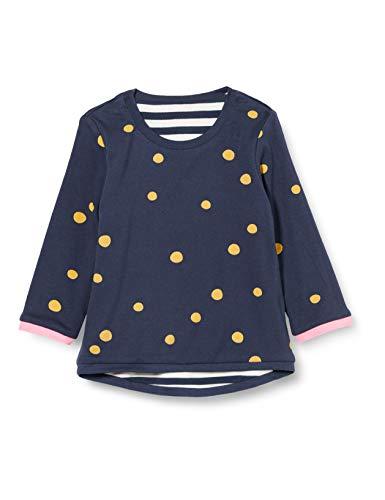 Sigikid Mini-Mädchen Wendeshirt aus Bio-Baumwolle, Größe 098-128 Suéter, Azul/Rayas, 3 años para Bebés