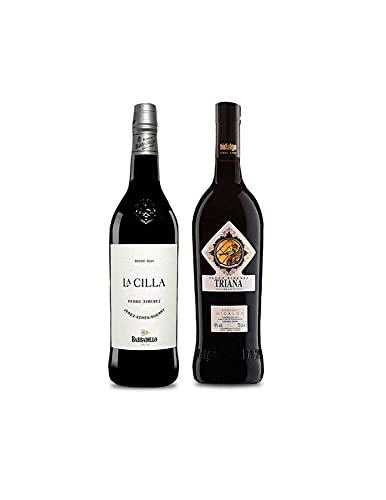 Vino Pedro Ximenez La Cilla de Barbadillo de 75 cl y Vino Pedro Ximenez Triana de 75 cl - Mezclanza Exclusiva