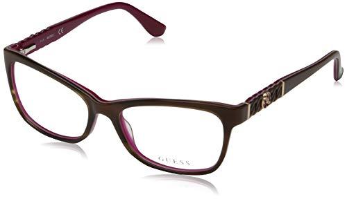Guess Unisex-Erwachsene GU2606 050 54 Brillengestelle, Braun (Marrone Scuro)