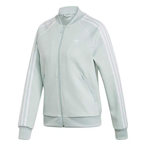 adidas Originals Damen Superstar Track Top Jacket Jacke, Dampfgrün, Small