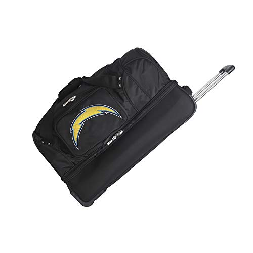 Great Price! NFL Los Angeles Chargers Rolling Drop-Bottom Duffel Bag, 27-inches