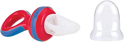 Nuby - Nibbler Retina Svezzamento Neonati con cappuccio - Rosso - 6m+ - Midi (180 x 130)