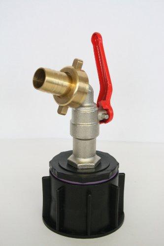 ame60 _ MK3 + 98 Robinet avec plastique Tulle et une laiton Douille avec Ecrou IBC Adaptateur de réservoir d'eau de pluie de Accessoires de conteneurs Mamelon de Bidon